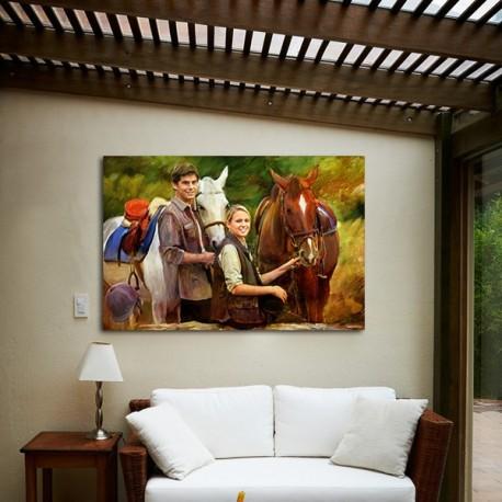 Retrato con Caballos